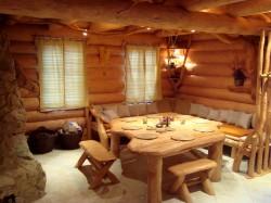 Obývací místnost - chata k pronájmu