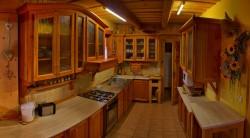 Kuchyňa - chalupa k pronájmu